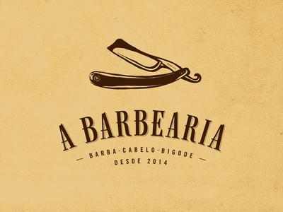 A Barbearia brown type barbearia barber barber shop custom type old serif tipografia vintage shave