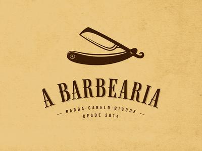 A Barbearia - Final brown type barbearia barber barber shop custom type old serif tipografia vintage shave