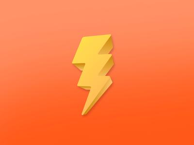 Bolt icon bolt raio icon 3d illustrator