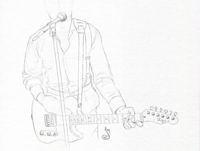 Guitar Sketch/WIP guitar drawing sketch mst3k illustration rifftrax