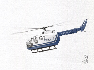 Helicopter police helicopter drawing sketch mst3k rifftrax illustration