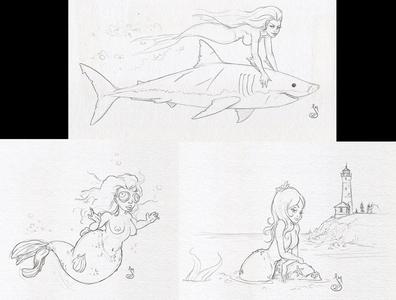 MerMay 2020 mermaids mermaid mermay sketch drawing daily doodle illustration