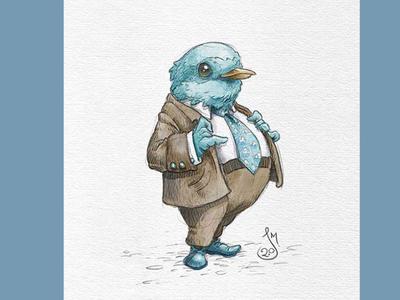 Birdman suit professional bird drawing sketch illustration