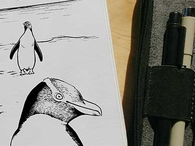 Inktober Penguin inktober2017 daily doodle animal alphabet alphabet dailydoodle penguin inktober drawing sketch illustration