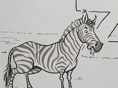 Inktober: Zebra kidlitart animal alphabet alphabet zebra daily doodle dailydoodle inktober2017 inktober drawing sketch illustration