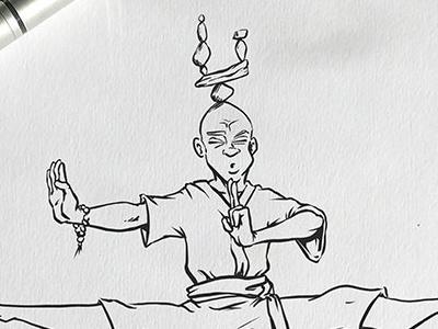 Inktober: Blind martial arts kung fu training kidlitart inktober2017 daily doodle dailydoodle inktober drawing sketch illustration