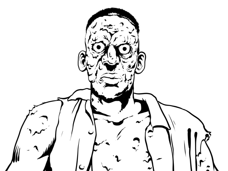 Zombie zombie wip drawing sketch mst3k rifftrax illustration