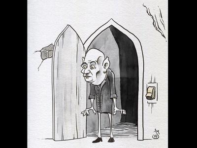 Inktober Day 4: Nosferatu