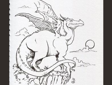 Inktober Day 12: Dragon