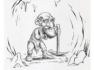 Inktober 2019 Day 29: Injured gnome dwarf inktober2019 inktober ink doodle daily doodle sketch drawing illustration