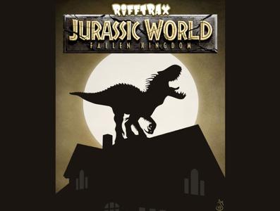 Jurassic World: Fallen Kingdom for RiffTrax silhouette mst3k vector design rifftrax