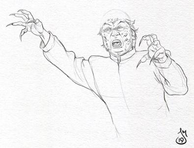 Vampire Sketch vampire drawing sketch mst3k rifftrax illustration
