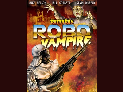RoboVampire robot vampire drawing digital painting mst3k rifftrax illustration