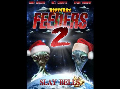Feeders 2: Slay Bells ufo christmas alien aliens feeders digital painting mst3k rifftrax illustration