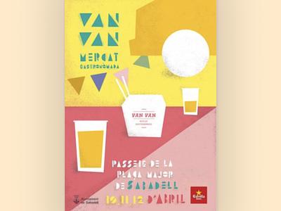 Van Van Market illustration design