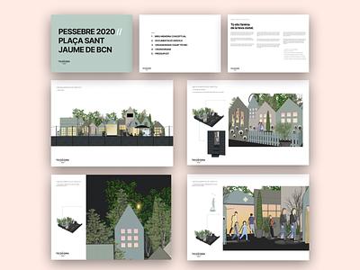 Pessebre BCN typography illustration design