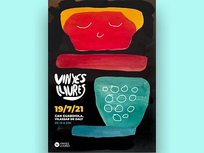 Vinyes Lliures illustration design