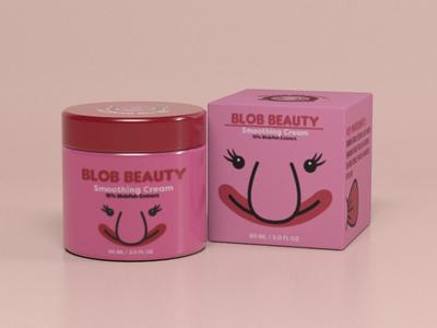 Blob Beauty Face Cream Packaging 3dsmax package design branding vector logo illustrator