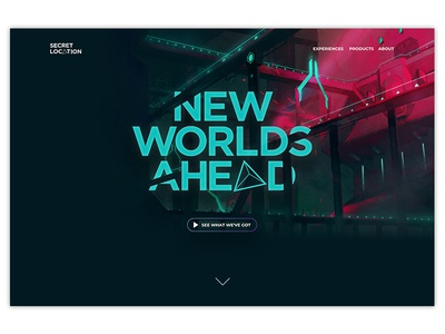 Secret Location Website Concept
