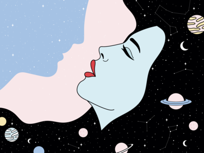 The woman and the man of space