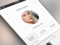 Post iOS 7 inspired app profile design
