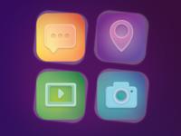 Dynamic Flat Icon Set