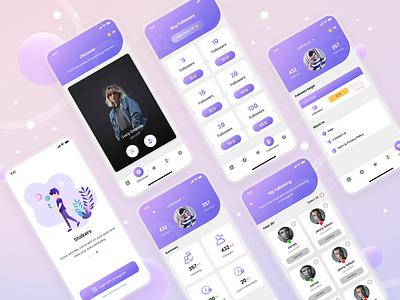 Get Insta Followers Mobile App palette uidesign mobileui