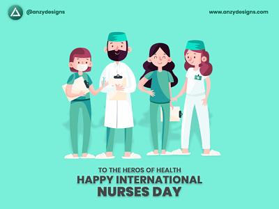 Happy International Nurses Day - Anzy Designs internationalnursesday happyinternationalnursesday graphic design vector illustration anzy designs kasargod design branding anzy nursesday anzydesigns
