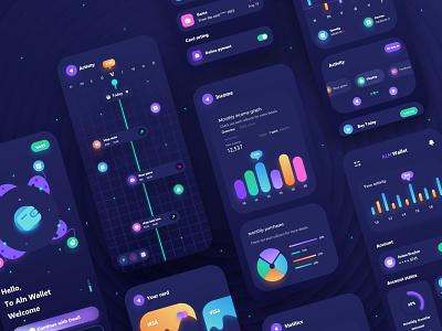 ALN Wallet app design icon uxdesign uidesigns uiux web design website web app ux uidesign ui design ui