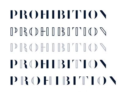 Prohibition Process lounge bar branding prohibition logotype typography logo