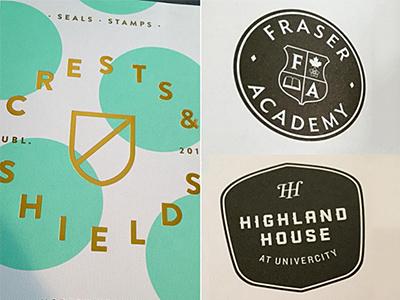 Crests & Shields modernheraldry designerforhire designbooks counterprint graphicdesign branddesign brandidentity design logo logodesign