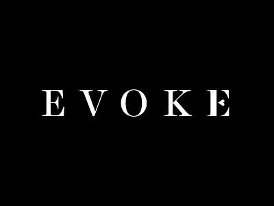 Evoke design graphicdesign branding vancouver wordmark wedding logotype evoke typography logo logodesign