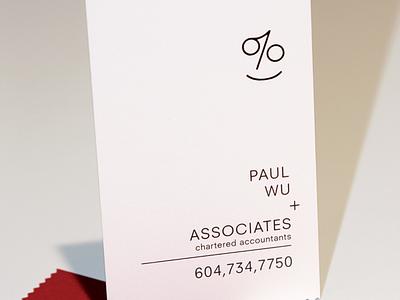 Paul Wu + Associates vancouver accounting brandidentity branding logo logodesign design graphicdesign businesscard