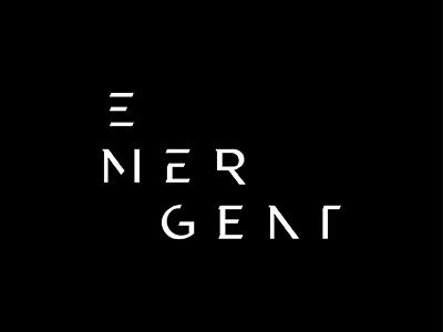 Emergent Logo graphic design brand design brand identity branding lettering typography wordmark logotype logo