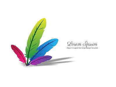Vector Feather Design graphic design vector feather design