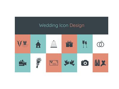 Wedding Icon Design graphic design vector design wedding icon design