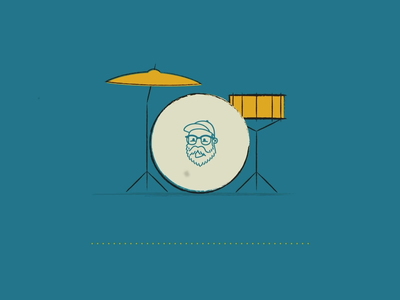 Drum Set Animation with Music lofi music drum set drums 2d animation