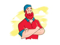 Paul Bunyan illustrator drawing character woodsman paul bunyan illustration