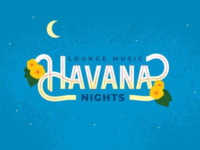 Lounge Music: Havana Nights - Wiley Roots Label Design packaging design label brewery beer mojito lime strawberry havana nights cuba havana illustration custom lettering lettering