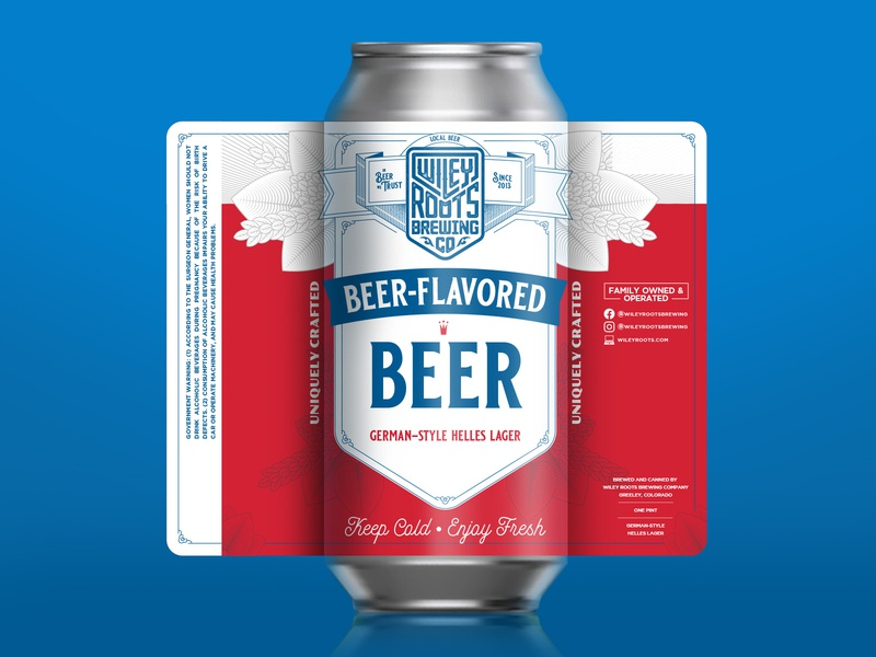 Beer-Flavored Beer Label beer can beer branding