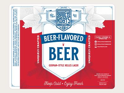 Beer-Flavored Beer Label beer can beer branding