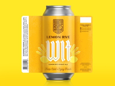 Lemon Rye Wit Label yellow texture lettering type custom type packaging label beer