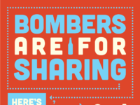 Bombers are for sharing 11x17