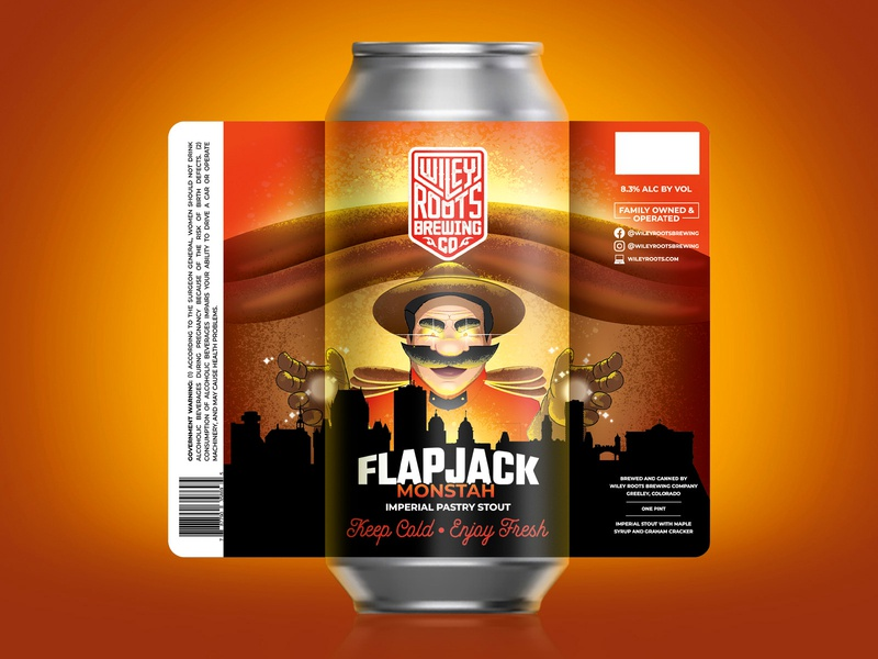 Flapjack Monstah packaging illustration label beer tsunami syrup mountie
