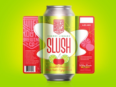 Cherry Limeade Slush packaging branding label