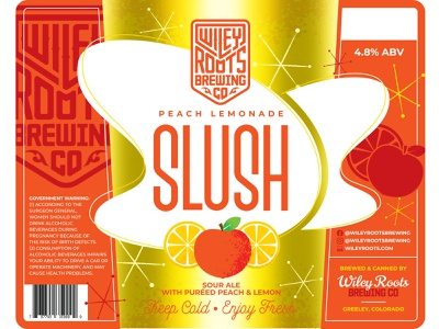 Peach Lemonade Slush label design lemon branding beer branding packaging label