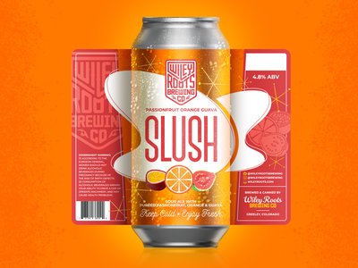 Passionfruit Orange Guava Slush Label fruit orange beer label label design packaging brewery beer brand label