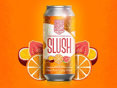 Passionfruit Orange Guava Slush Label fruit orange beer label label design packaging brewery beer brand label