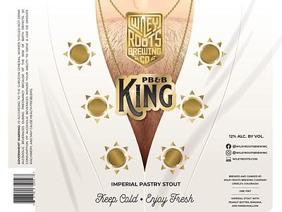 PB&B King - Imperial stout Label elvis presley the king elvis illustration label design packaging label can beer can beer brand beer