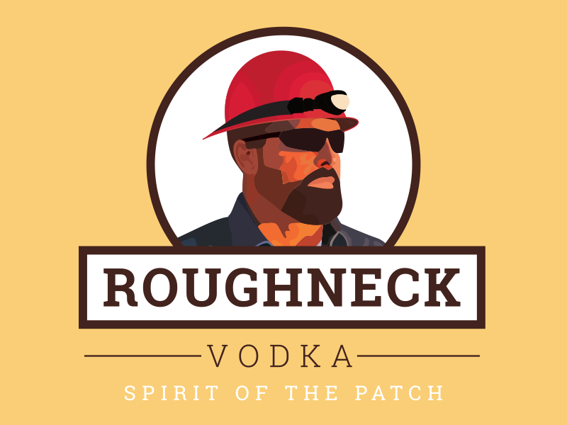 Roughneck vodka label